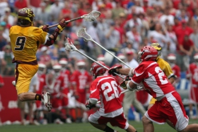 Greg Titus scores one of his 3 goals during Salisbury's 2007 Championship