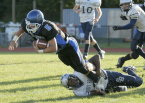 Terrance Anderson makes a tackle