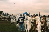 Coach Steve Diehl gets a Gatorade bath after the historic win