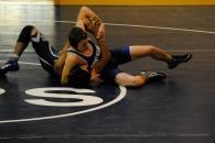 Wyatt Piazza earns a pin vs. Hackley