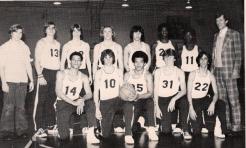 The 1977-78 Shrikes. Wilson (1st row, center)