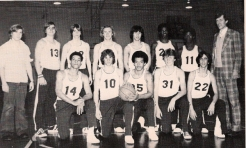 The 1977-78 Shrikes. Wilson (1st row, center)