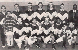 The 1995-96 boys' basketball team (Ciofrone back center/Marvin front center)