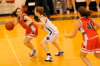 Jess Winston pressures the ball