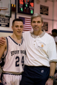 Pizzichillo and his uncle, coach Hickey, after the win