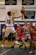 Tim Pandolfi glides toward the basket