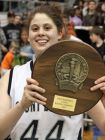 Danielle Spiliotis shows off the hardware