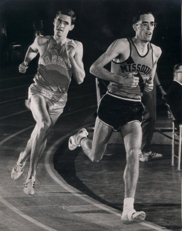 Ogden leads the famous Jim Ryun in this undated photo
