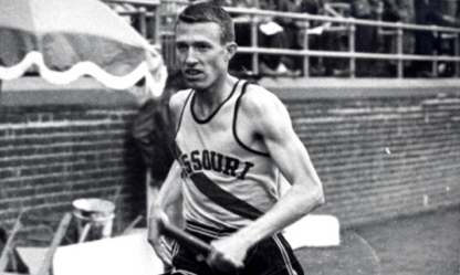 Lingle at the Penn Relays during his memorable career at Missouri