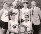 The victorious 1993 team | Front: Brownworth & Stuckey | Back: Roderick, Patrick, Sholl & coach Robin Lingle