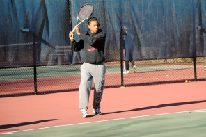 Richie Armand (shown here in practice) won 1st singles for the Brook