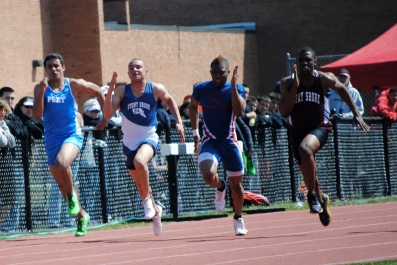 Colucci in the 100 meter final