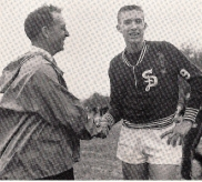 Goldberg congratulates Lingle after he won the Eastern States Championship in 1959, the 1st of his 2 victories that day