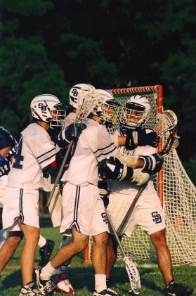The boys' lacrosse team was one LI's strongest in the 90s