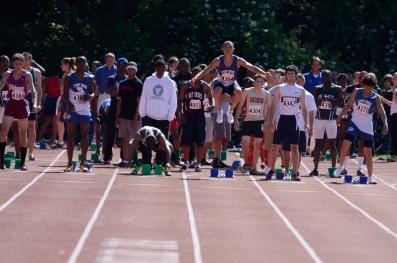 Lawson, Colucci & White prepare for the 100m