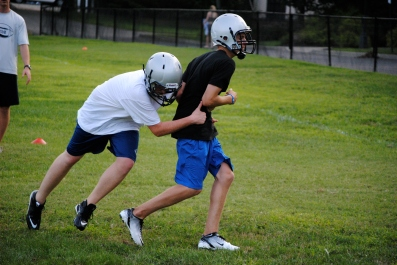 Open field tackling drill
