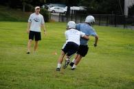 Coach Kyle Cavanaugh looks on