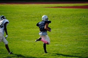 White off to the races on a TD run
