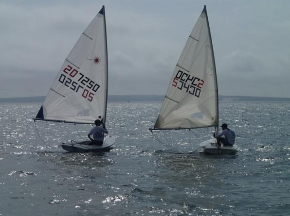 Martin (left) & Gallipeau confer between races (Photo credit: G. Linzee)