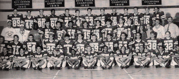 The '94 Bears: Mattimore (Top row, 3rd from L), D. Kenney (2nd row, 2nd from L), Hoskins (3rd row, 6th from L), Vega (2nd row, 5th from R), J. Kenney (Top row, 6th from R)