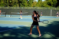 Olivia Braat poised for a backhand