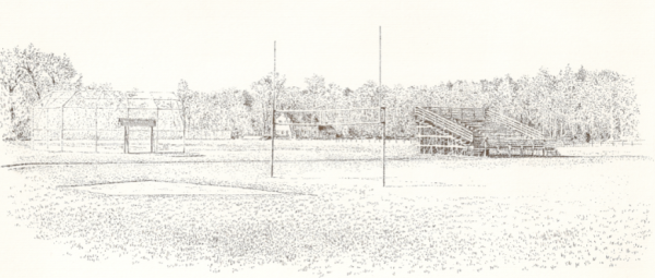 Drawing of Fitch Field by Robert C. Brooks