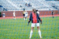 Morgan Pius stalks the goal line