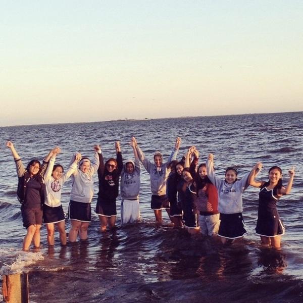 The girls celebrate their League Championship (Photo credit: Coach Crane)