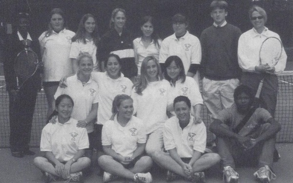 The 2002 girls tennis squad
