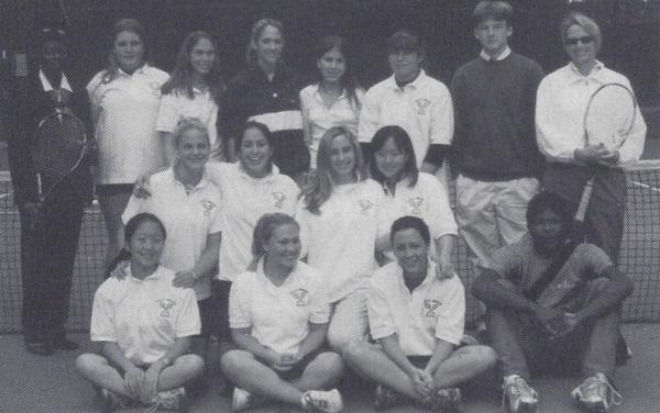 The 2002 girls tennis squad