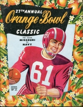 1961 Orange Bowl program