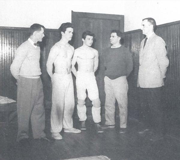 1957 | Coach Ligget, Belyea, Cuthbert, Coach Coombs & Coach Marshall