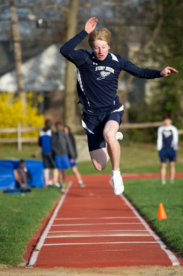 Hollis triple jumping for the Brook in 2012 (Photo credit: Bruce Jeffrey)