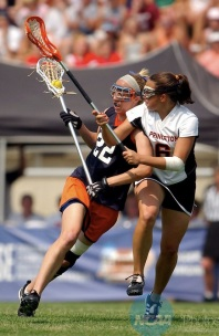 Caitlin Banks during Virginia's 2004 National Championship win over Princeton