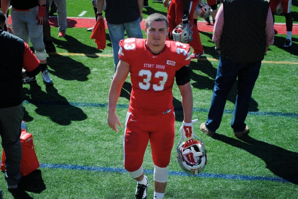 Liotine after SBU's spring game in April