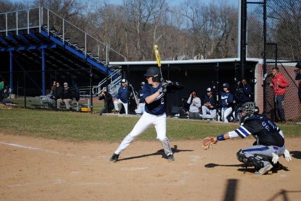 Holvik at the plate vs. Port Jeff earlier this month