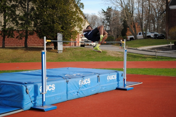 Etienne clears the bar vs. Greenport earlier this season