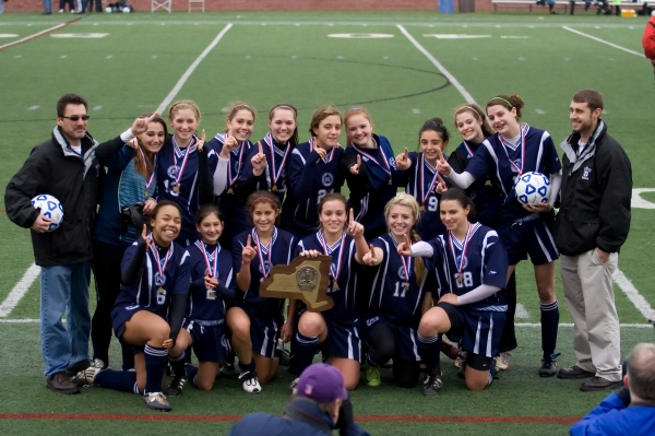 The girls after winning the State Championship in 2009
