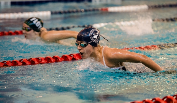 Rebecca Crane claims a victory in the 200 IM on Thursday