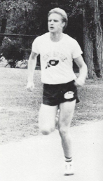 Hoffman during a meet in 1984