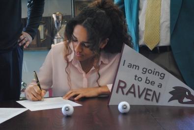 Jones signs her Letter of Intent