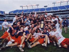 Virginia with the 2003 Championship trophy