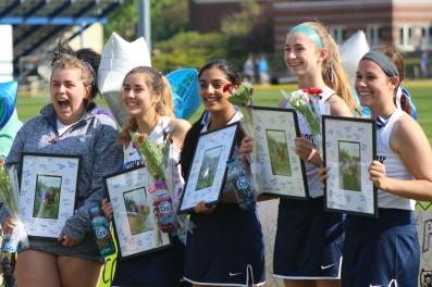 Seniors: Erika Sobelman, Nicole Gray, Veronica Bhasin, Annie Skorobohaty & Marlee Painter