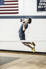 Bobby Chen helped lead the boys' badminton team to 4 victories in only the second year of the program (PC: Brianna Holochuck)