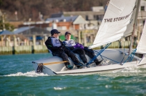 Jack Adams & Isaac Voros during the spring dinghy season (PC: Brianna Holochuck)
