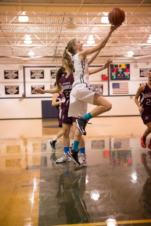 Annie Skorobohaty earned an All-Conference nod as one of the best 3-point shooters on Long Island (PC: Bruce Jeffrey)