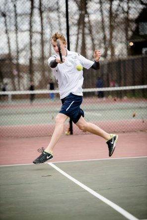 Philipp Koliggs was one of the top singles players for the boys' tennis team (PC: Bruce Jeffrey)
