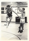 Mattimore shoots over Ciofrone in 1994 (when Ciofrone attended Smithtown Christian)