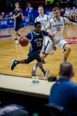 Brandon Providence pushes the ball in the State Final Four (PC: Bruce Jeffrey)