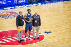 Etienne was named to the All-Tournament Team